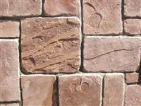 Veneer stone chopped misty rose sandstone