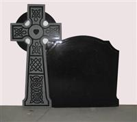 black tombstone and monument