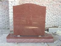 Red granite monuments