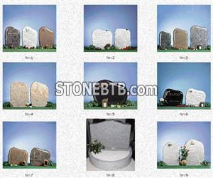 TOMBSTONE in red or light gray granite