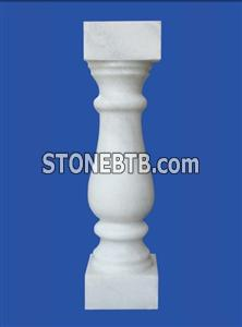 white marble balustrade/handrail 50x12x12 cm  square or round