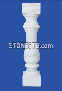 white marble balustrade/stair baluster  (90x12x12 cm)  square or round