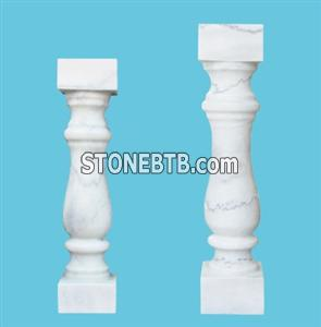 white marble balustrades handrails square