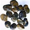 Striped polished pebble