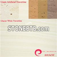 Glacier White Artificial Travertine -ATU0003
