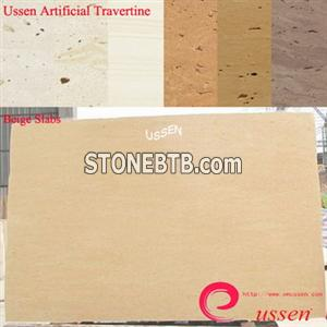 Beige Artificial Travertine Slabs-ATU0006