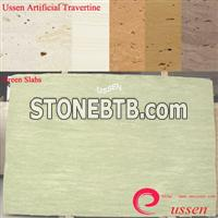 Green Artificial Travertine Slabs-ATU0008