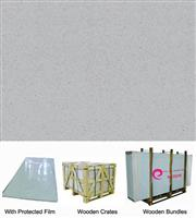 Light Grey Pore Crystallized Glass Panel