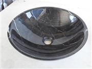 black marble kitchen basin