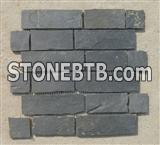 Irregular Shape Stone Mosaic Tile With Mesh Back , Slate Mosaic