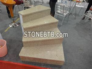 Yellow granite step stair