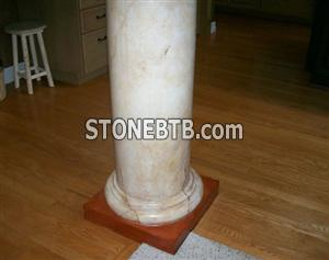 Marble column base & Marble pillars