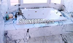 Arabescato Marble Bath Tub Surround