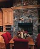 Dressed Fieldstone fireplace