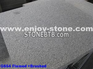 Flamed Brushed G654 Granite Paver
