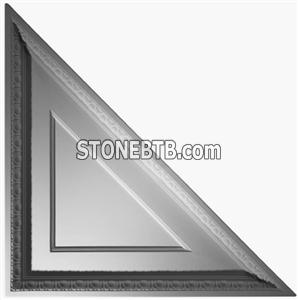 Coffered Egg & Dart Triangle - Ceiling Tile Design