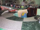 Bar Bench - Green Marble, White Granite