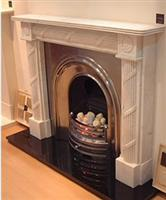Reeded Bullseye Fireplace