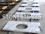 Italy Carrara White Marble vanity top