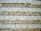 yellow rust stone blind paver stone