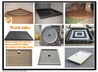Wash tubs, Shower Tray