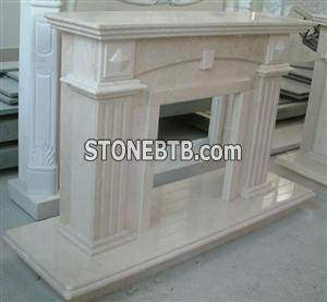 Carving Stone Shite Marble Fireplace