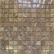 Emperador Brown Polished Mosaic Tiles