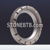 Wheels for rectifying ceramic kiln rollers