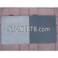 Classic Black Granite Flamed And Honed Tile70