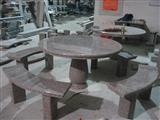 China Red Granite Table, Granite Bench