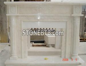 White Marble Fireplace Surround