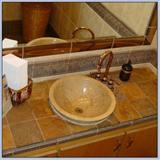 Rust Slate Tile Vanity Top