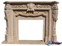 Carved Sandstone Fireplace,Sandstone Fireplace Man