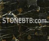 Afghanistan's black with gold marble for floor