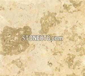 Cream-colored marble