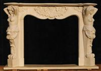 fireplace, stone mantle, natural stone