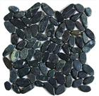 Black sliced pebble tile