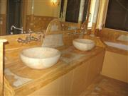 Yellow Onyx Vanity Top