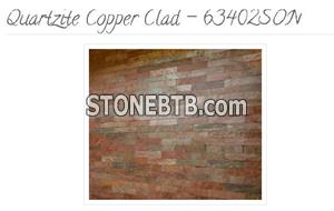 Copper Quartzite Strip Cladding - 63402SON