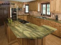china green countertop