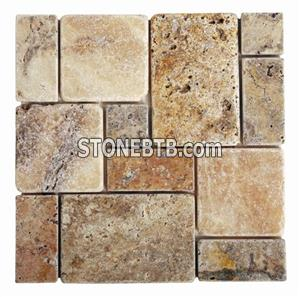 Tumbled Scabos Travertine French Pattern