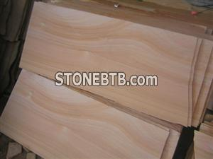 Light Yellow Wooden Vein Sandstone Slabs