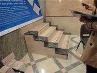 Beige and Black Marble Stairs, Steps
