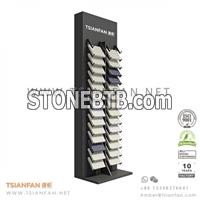 quartz stone showroom display rack SR097