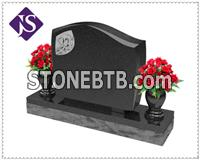 Cheap Double Tombstones/Monuments with Tree and Vase