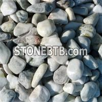 white with little jade color pebble ball stone GS-001