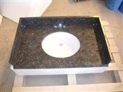 Tan brown granite vanitytop