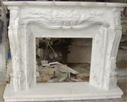 Volakas White Marble Fireplace