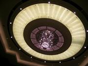 backlit white onyx glass ceiling