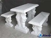 Stone Table and Bench, Marble Table Sets